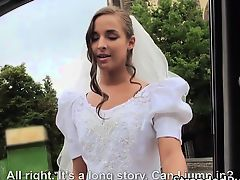 Pretty bride Amirah gets fur pie bonked