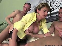 British milf rides and sucks cocks