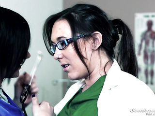 nerdy nurses fuck in the examination room