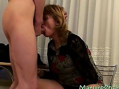 GILF trying a delicious heavy phallus