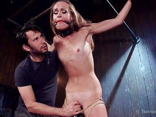 infirm babe gets trained for bdsm activities