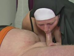 German MILF Nun fucks Fellow first Time