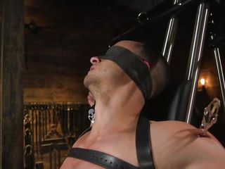gay master puts his nice-looking slave throughout plenty of pain and humiliation