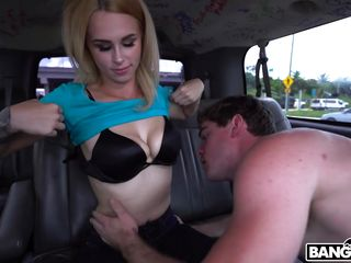 beautiful blonde obtains railed in the bang bus