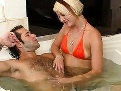Naughty goldenhaired pornstar enjoys fucking