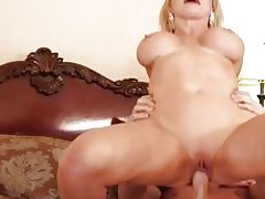 Nikki Benz bounces her wet pussy on this stiff cock
