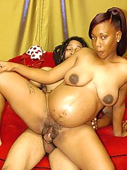 Cookie Gives Up Her Black Pregnant Poon