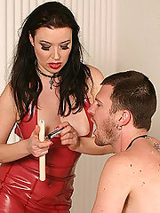 Mistress Anastasia Dominates Slave
